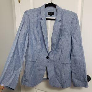 JUDITH & CHARLES Blue Linen Blazer